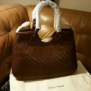 Cole Haan Large Leather Tote Bag NWT